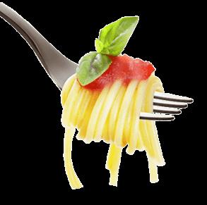 Fourchette avec spaghetti