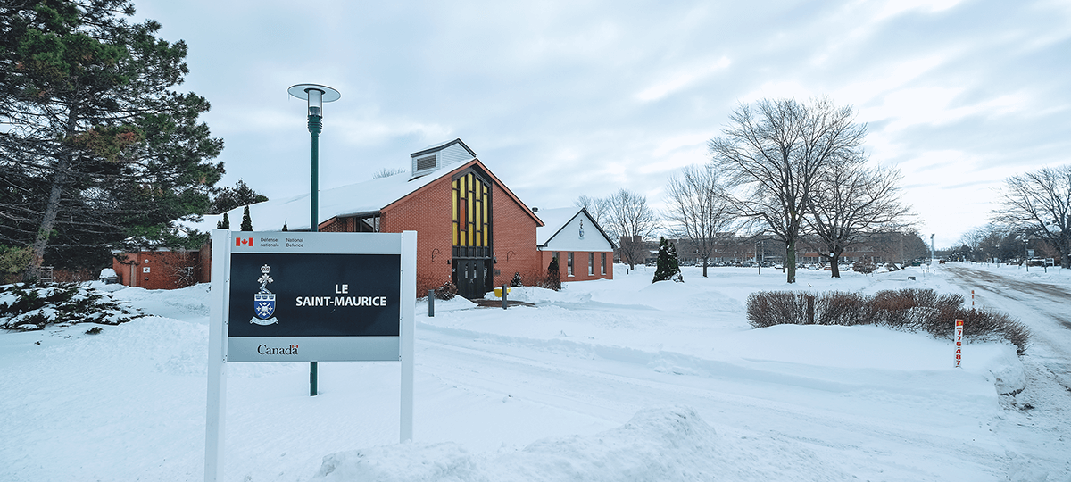 Salle le Saint-Maurice extérieur en hiver