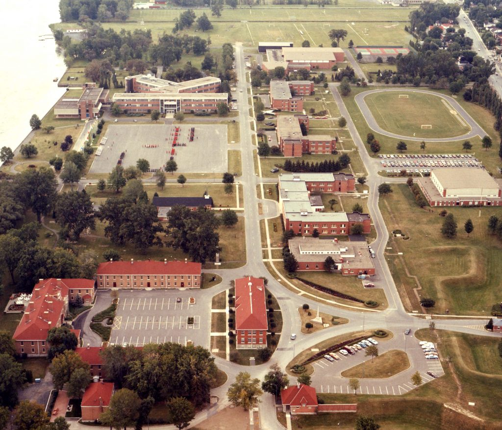 Vue aérienne du Collège militaire royal de Saint-Jean