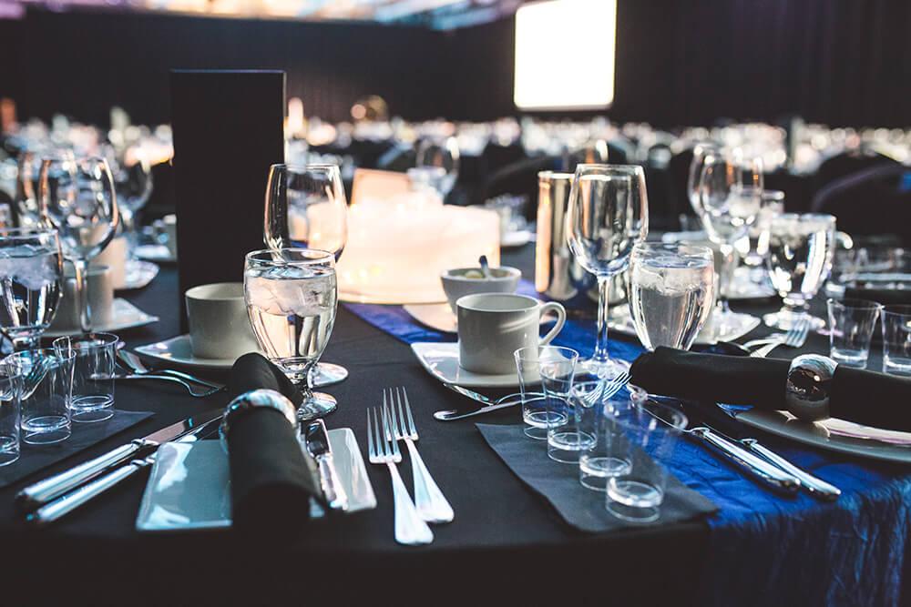 Table lors d'une réception