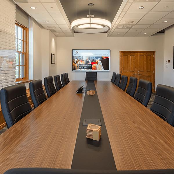 salle du conseil d'administration à la Corporation du fort St-jean